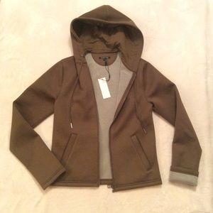 Helmut Lang tech green army color NEW zip hoodie